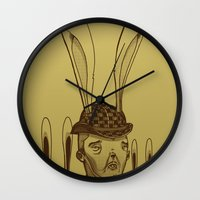 minions Wall Clocks featuring The Rabbit Man by Michael B. Myers Jr.