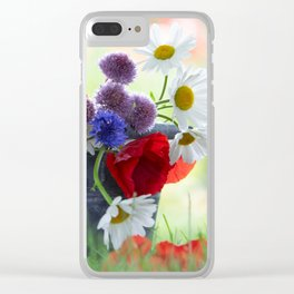 Flower potpourie from the cottage garden Clear iPhone Case