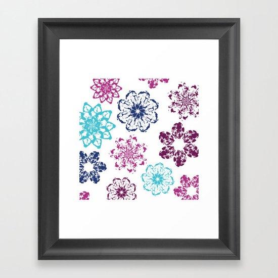 Batik Flowers Framed Art Print