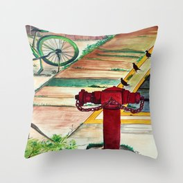 By the road side Throw Pillow