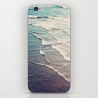 waves iPhone & iPod Skins featuring Ocean Waves Retro by Kurt Rahn
