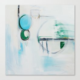 No. 12 Blue Emerald Ombre Pastel Abstract Painting  Canvas Print