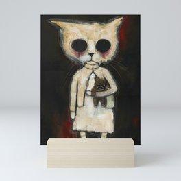 Fiona and Teddy Bear Mini Art Print