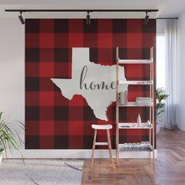 Texas is Home - Buffalo Check Plaid Wall Mural
