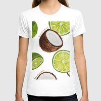 coconut wishes T-shirts featuring Lime & Coconut  by Nora Buschman