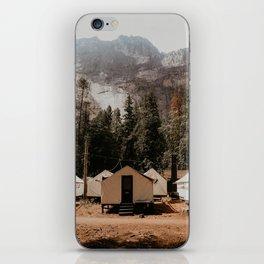 campsite at yosemite iPhone Skin
