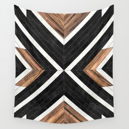 Urban Tribal Pattern No.1 - Concrete and Wood Wall Tapestry
