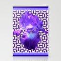 Decorative  purple Iris Optical Pattern Art by sharlesart