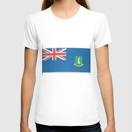 Flag of British Virgin Islands. The slit in the paper with shadows. T-shirt