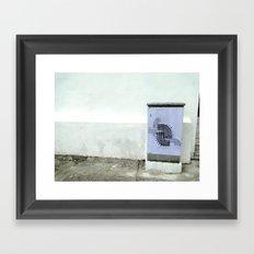 POSTER LINES Framed Art Print