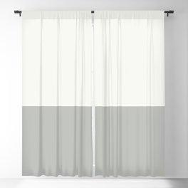 Benjamin Moore 2019 Color of Year Metropolitan and Snowfall White Bold Horizontal Stripes Blackout Curtain