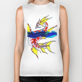 Koifish Sea Dragon Biker Tank