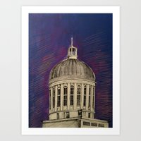 montreal Art Prints featuring Montreal by Shazia Ahmad