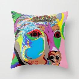Lady Rottweiler Throw Pillow
