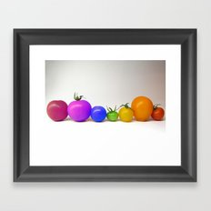 Rainbow Tomatoes Framed Art Print