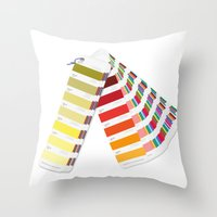 pantone Throw Pillows featuring PANTONE by VincenzoRusso