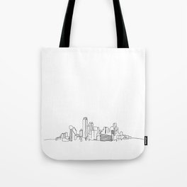 Dallas Skyline Drawing Tote Bag