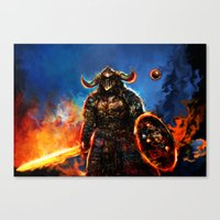 viking and his droid Canvas Print