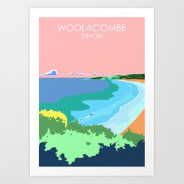 Woolacome Art Print