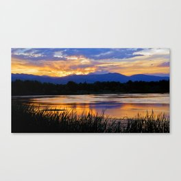 Walden Ponds Sunset III Canvas Print