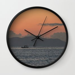 Sailing lonely Wall Clock