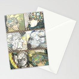 Phrenology - by Fanitsa Petrou Stationery Cards