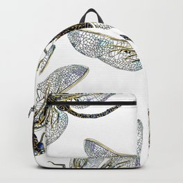 blue dragonflies pattern Backpack