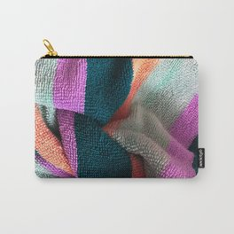Multicolor Stripe Textile 3 Carry-All Pouch