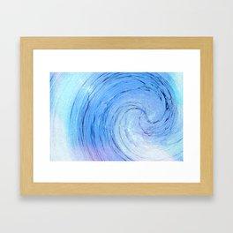 Ice Spiral Framed Art Print