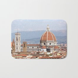 Florence cathedral dome photography Bath Mat