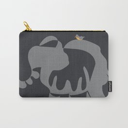 The Endangered Elephant and the Oxpecker Carry-All Pouch