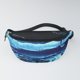 The Sea at Satta : Blue Fanny Pack