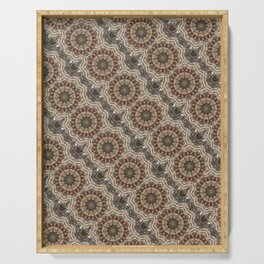 kaleidoscope modern design pattern background Serving Tray