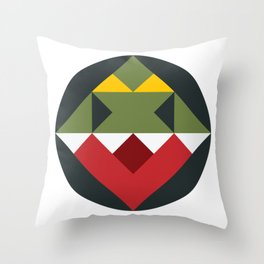 The Triangle T-Rex Throw Pillow