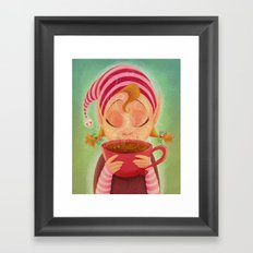 Elf Cocoa Framed Art Print