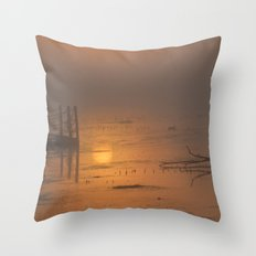 Sunrise on the Horicon Marsh Throw Pillow