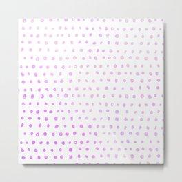 Purple Ombre Watercolor Dots Metal Print