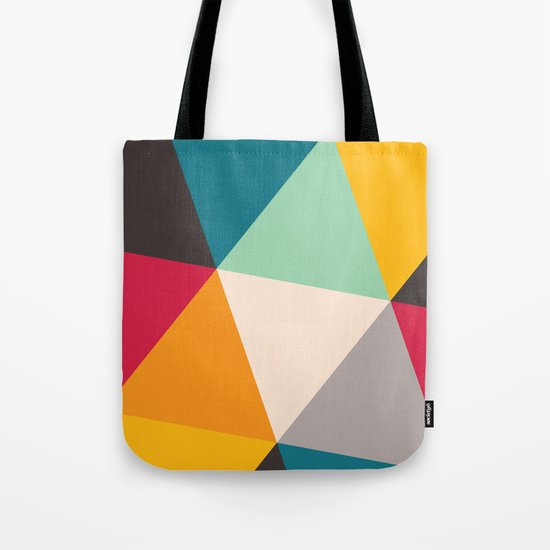 Geometric Triangles Tote Bag