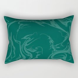 Emerald Swirls Rectangular Pillow