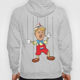 Donald Trump as Lying Pinocchio Puppet Hoody
