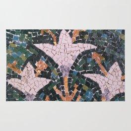 Lilies, mosaic replica Rug