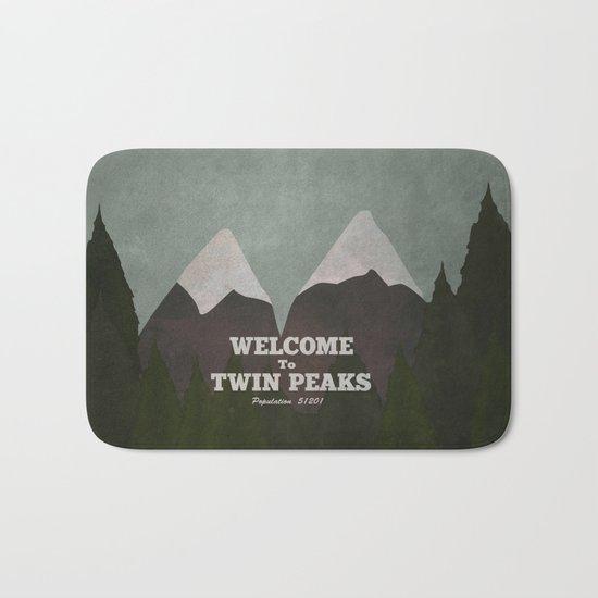 Welcome to Twin Peaks Bath Mat