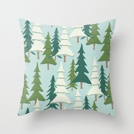 Winter Pines Throw Pillow