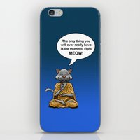 buddah iPhone & iPod Skins featuring Buddah Cat by The Big Bad Dream Machine