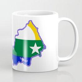 Map of Isla de Margarita with Flag Coffee Mug
