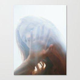 Woman through glass Canvas Print