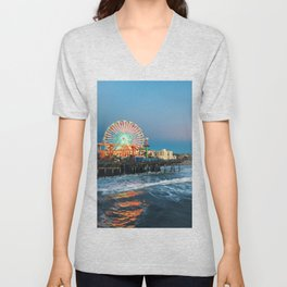 Wheel of Fortune - Santa Monica, California Unisex V-Neck