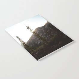 sunset in angeles crest forest Notebook