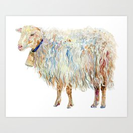 Wooly Sheep Art Print