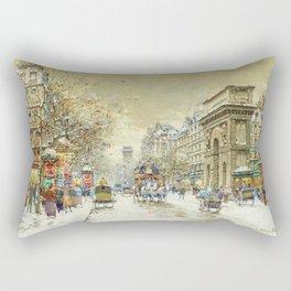 Porte St. Martin, Paris by Antoine Blanchard Rectangular Pillow